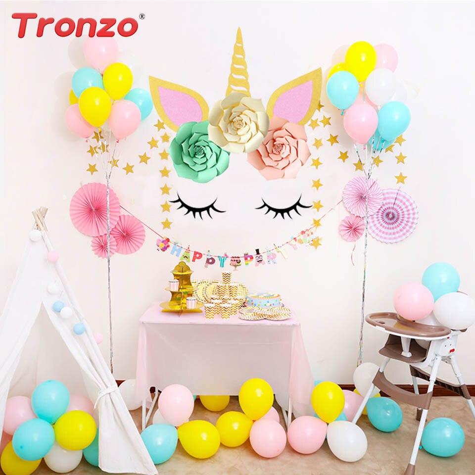 Tronzo Diy Unicorn Horn Eyelashes Unicorn Party Colorful