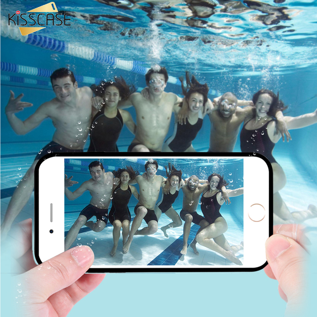 KISSCASE Waterproof Case For iPhone 6 7 Plus 5S Underwater Clear ...