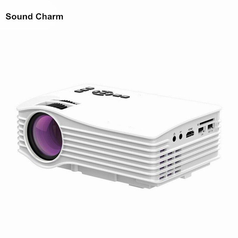 Мини-проектор Max 130 дюйма hd Портативный светодиодный проектор с HDMI USB Proyector домашний Театр Beame UC36 Бесплатная доставка