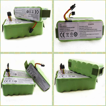 6PCS/lot Battery For Ecovacs 14.4V 3500mah+A pair Side brush for Ecovacs CR120 Dibea Panda X500 X580 Kk8 Haier Sweeping battery