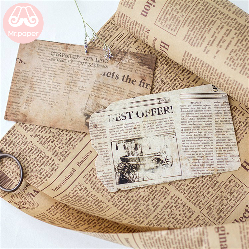 Mr Paper 30pcs box Retro Memories of Restoring Postcard Vintage Style Creative Stationery Writing Greeting Gift Postcards in Business Cards from Office School Supplies