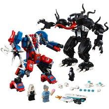 2019 New Marvel Avengers Endgame Set 671pcs Spiderman Venom Mech Building Blocks Compatible Superheroes 76115 Toys For Children