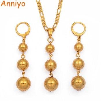 f6d3613d7784 Anniyo Color oro de conjuntos de joyas colgante collares pendientes para  las mujeres árabes de África Etiopía joyería de regalo  106406