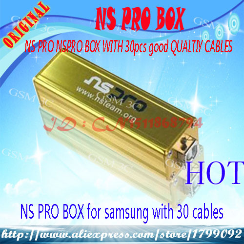 Original NS PRO BOX NSPRO BOX With 30pcs Cable For Samsung Free Ship By DHL