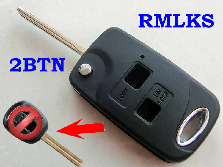 Lexus 2 buttons remote key case shell IS200 GS300 RX300 LS400 uncut key blank