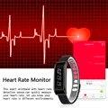 Excelvan inteligente pulsera heart rate monitor podómetro sleep monitor de llamada de recordatorio recordatorio tw07 negro