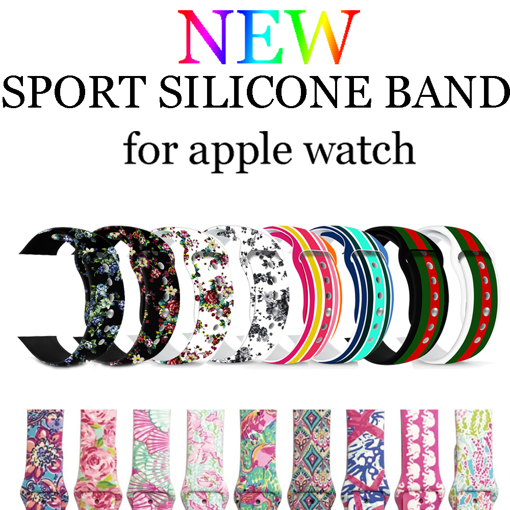 Sport strap for Apple watch band 42mm 38mm iwatch series 3/2/1 silicone watchband bracelet wrist belt watch accessories correa цена