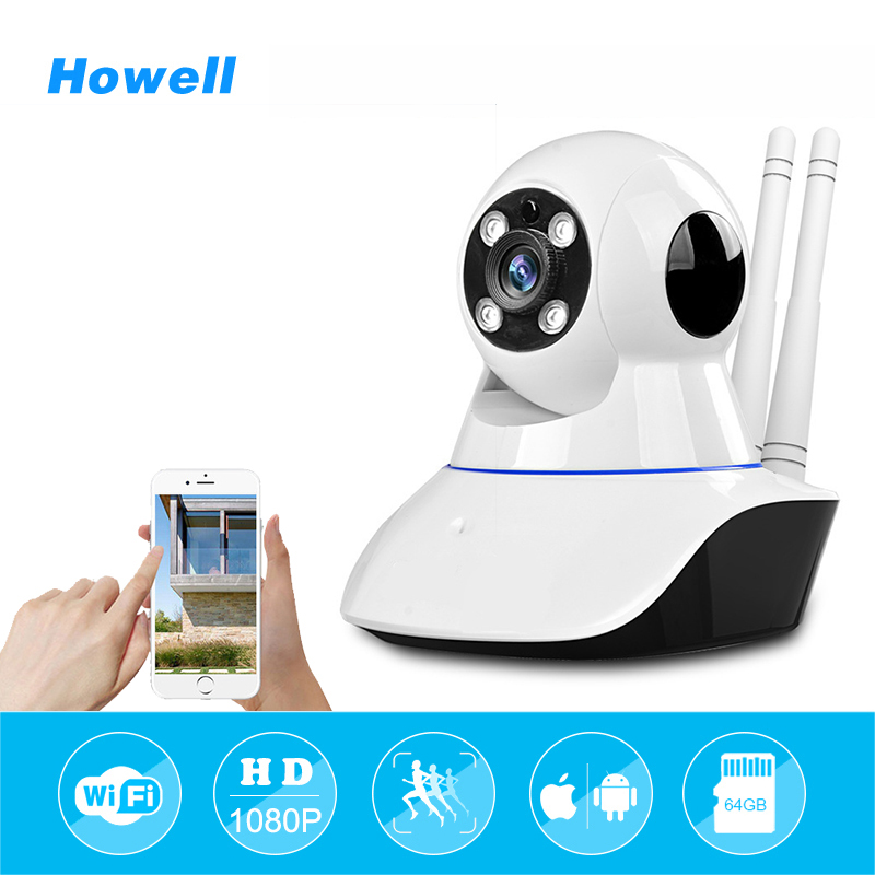 Howell Wifi Camera HD 720P IP Wi-Fi Wireless Home Security mini CCTV Camera Onvif 2.0 P2P Video Surveillance Baby Camara Webcam