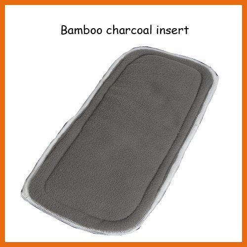 Super absorption Babyland Papoose Bamboo Charoal 5 layers insert  400pcs factory price  onsale