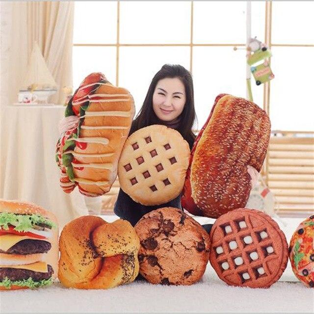 50cm Creative Plush Pillow Cushion 3d Simulation Food Stuffed Toy