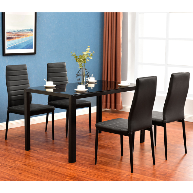 5 Piece Dining Table Set 4 Chairs  2
