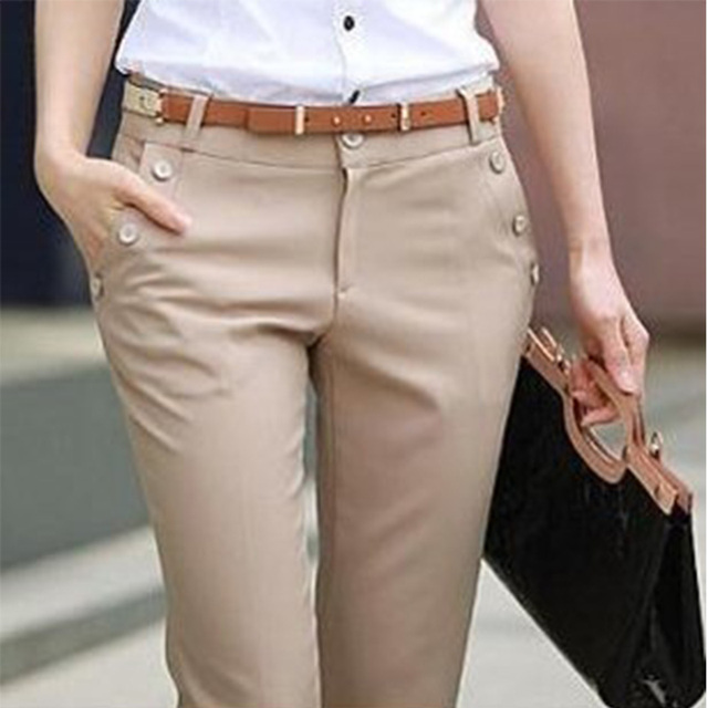 Plus Size Trousers Women Pants 2015 Spring Summer Casual OL Formal Harem Pants Women Office Dress Pants Flare Trousers KZ2