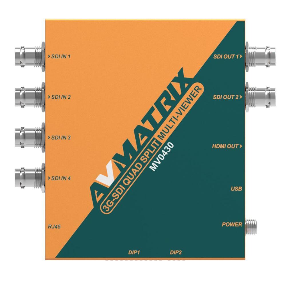 Lilliput AVmatrix MV0430 Scaling 4 Channel 3G SDI Multiviewer 3G SDI Scaling Converter Multiviewer SDI to