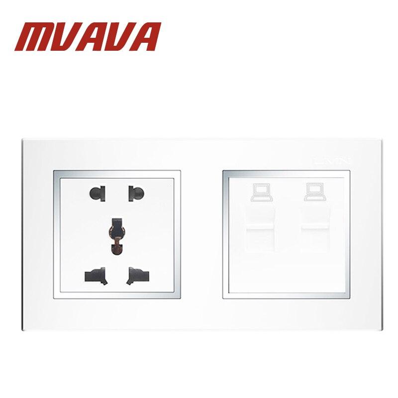 MVAVA Multifunktionale Doppel 5 Pins & Computer Steckdose ...
