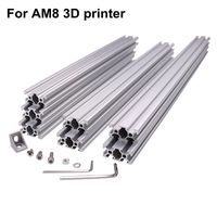 Fast Ship! AM8 3D Printer Aluminum Metal Extrusion Profile Frame with Nuts Screw Bracket Corner
