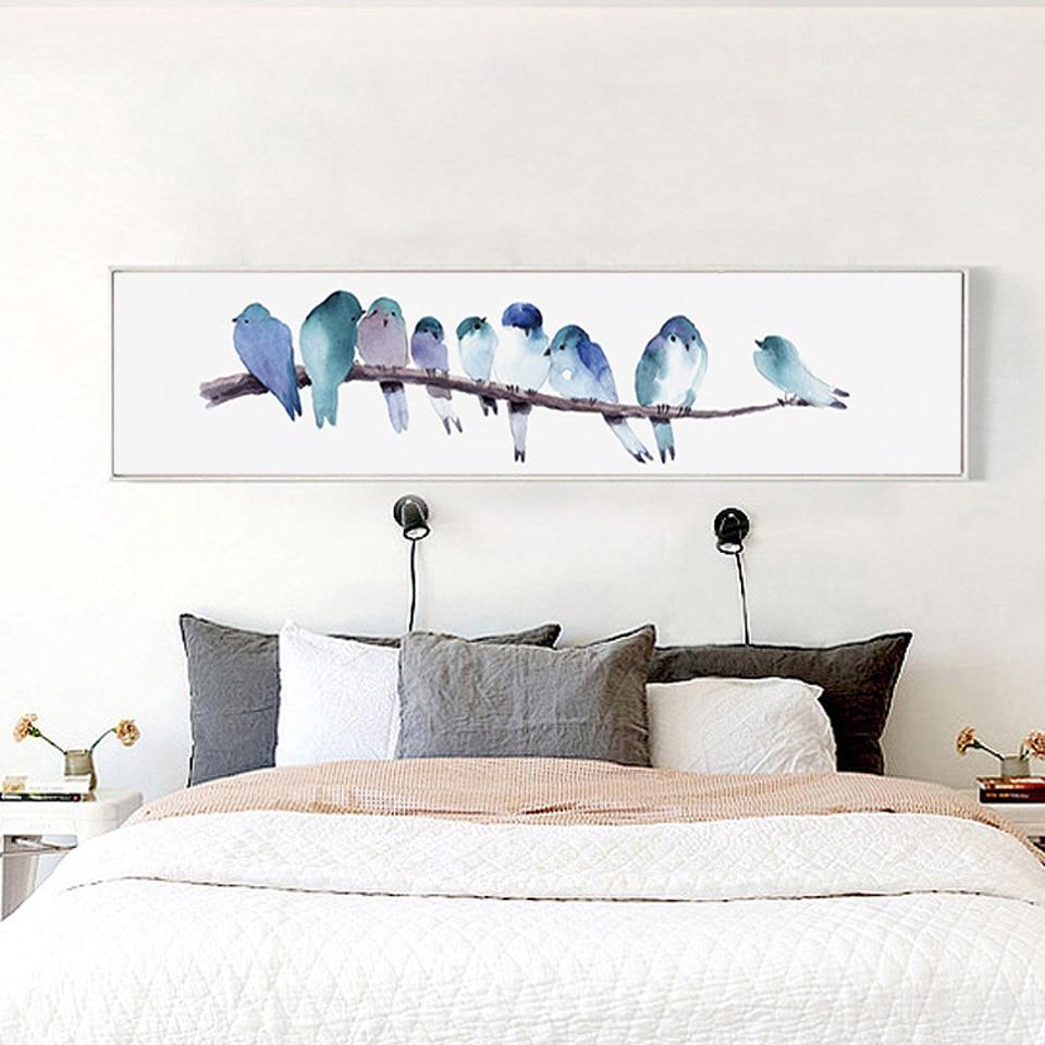 показываем постер для спальни в холодных тонах селе чистейшие, постоянно