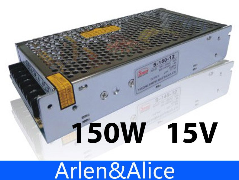150W 15V 10A Single Output Switching power supply for LED Strip light AC to DC 145w 15v single output switching power supply for fsdy ac to dc