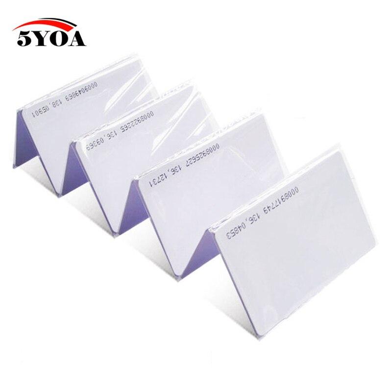 100 pces garantia de qualidade em cartão de identificação lido apenas 4100/4102 reação cartão de identificação 125khz rfid apto para controle acesso comparecimento do tempo