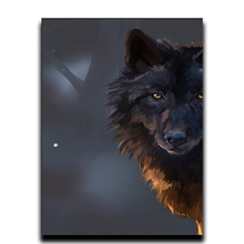 Diy Diamond cross stitch painting Crafts Craft full of diamond embroidery Animals 5d round \ square mosaic Wolfs gaze