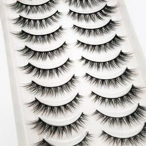 Image 5 - Nieuwe 300 Pairs 3D Zachte Nertsen Haar Valse Wimpers Natuurlijke Lange Wimpers Criss Cross Piekerige Pluizige Wimpers Extension Eye makeup Tools