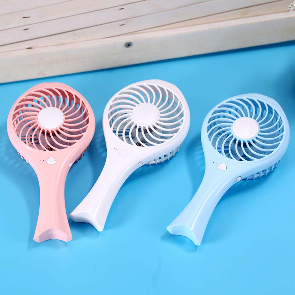 New Mermaid Fish Style USB Mini Fan Folding Handheld Cooling Cooler Rechargeable Desk Fa ...