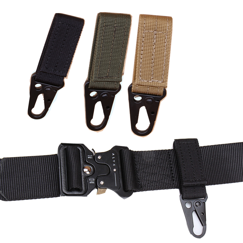 Tactical Nylon Ribbon Key Chain Military Enthusiasts Multi-function Mountaineering Olecranon Hook Molle Hang Buckle