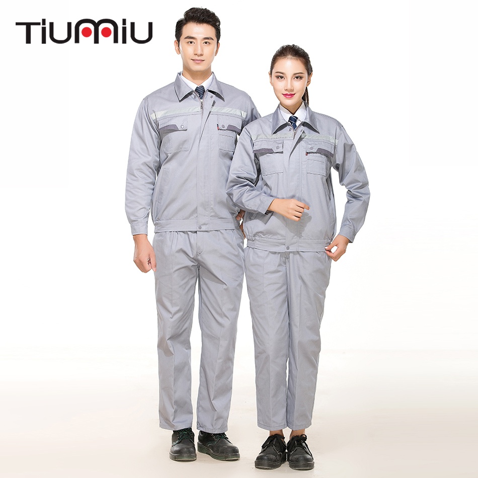 High Quality Wholesale Anti-Static Protective Clothing Unisex Work Wear Sets Two Pieces Reflector Coats Engineering Service Sets