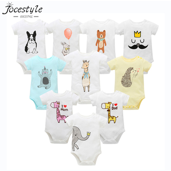 Unisex Top Quality Baby Rompers Short Sleeve Cottom O-Neck 0-24M Novel Newborn Boys&Girls Roupas de Baby Clothes