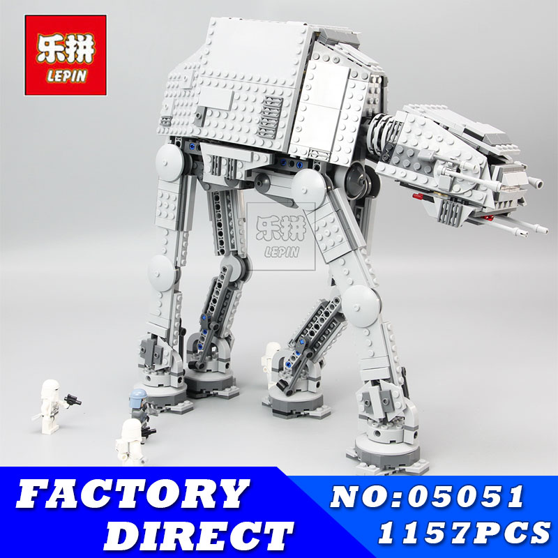 LEPIN 05051 1157Pcs Star Set Wars AT-AT The Force Awakens Educational Building Blocks Bricks Compatible 75054 Children Toys new lepin 16009 1151pcs queen anne s revenge pirates of the caribbean building blocks set compatible legoed with 4195 children