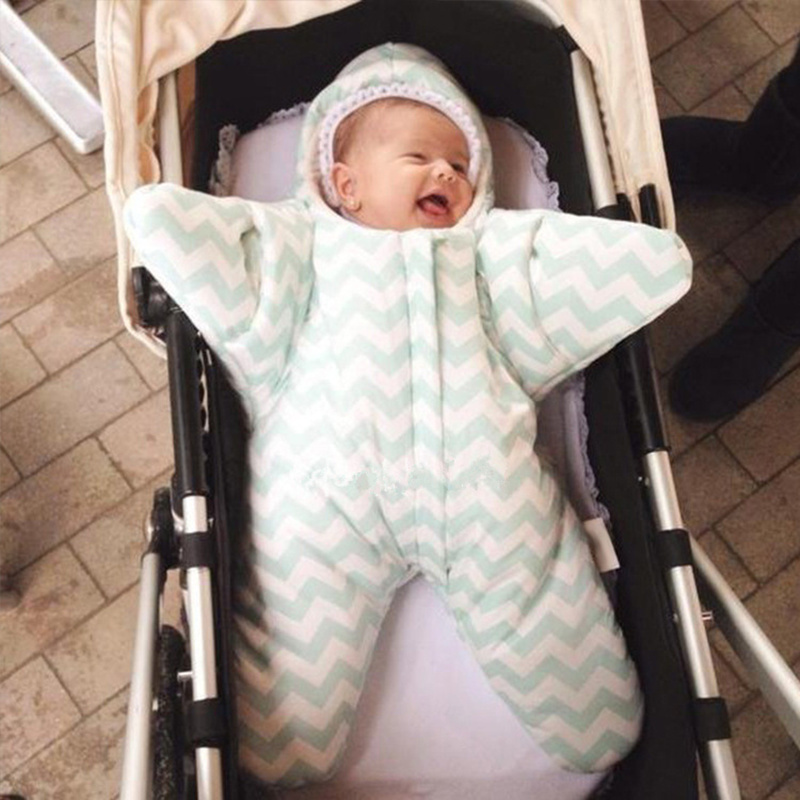 Newborns Baby Cotton Sleeping Bag Cute Starfish Stlye Autumn Winter Outdoor Used On Strollers Bed Swaddle Blanket Wrap Bedding