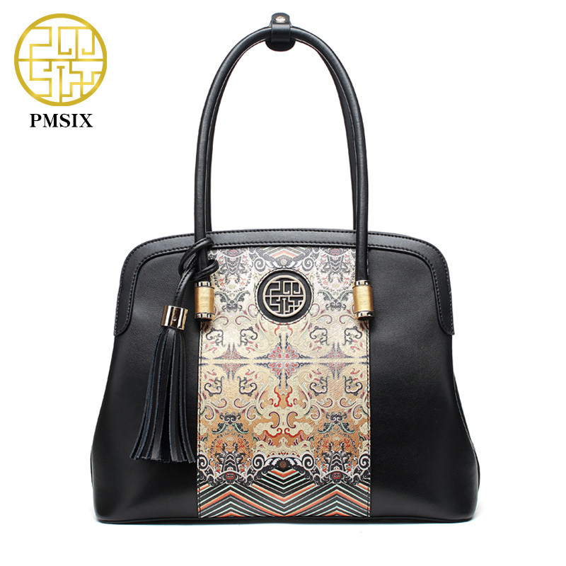 Pmsix Vintage Women Bag Luxury Brand clutch Women Messenger Bags Shell Bag tote Ladies Handbags New fashion Leather Handbags