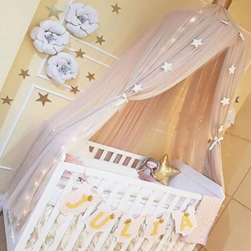Wunderbar Marke Runde Kinderbett Moskitonetz Kreis Hung Dome Moustiquaire Prinzessin  Bett Baldachin Mit Sterne Krone Vorhang Für Kinderzimmer Bett
