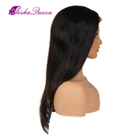 Aisha queen прямой парик Синтетические волосы на кружеве натуральные волосы парики бразильского Волосы remy прямо на черный Для женщин отбеленные