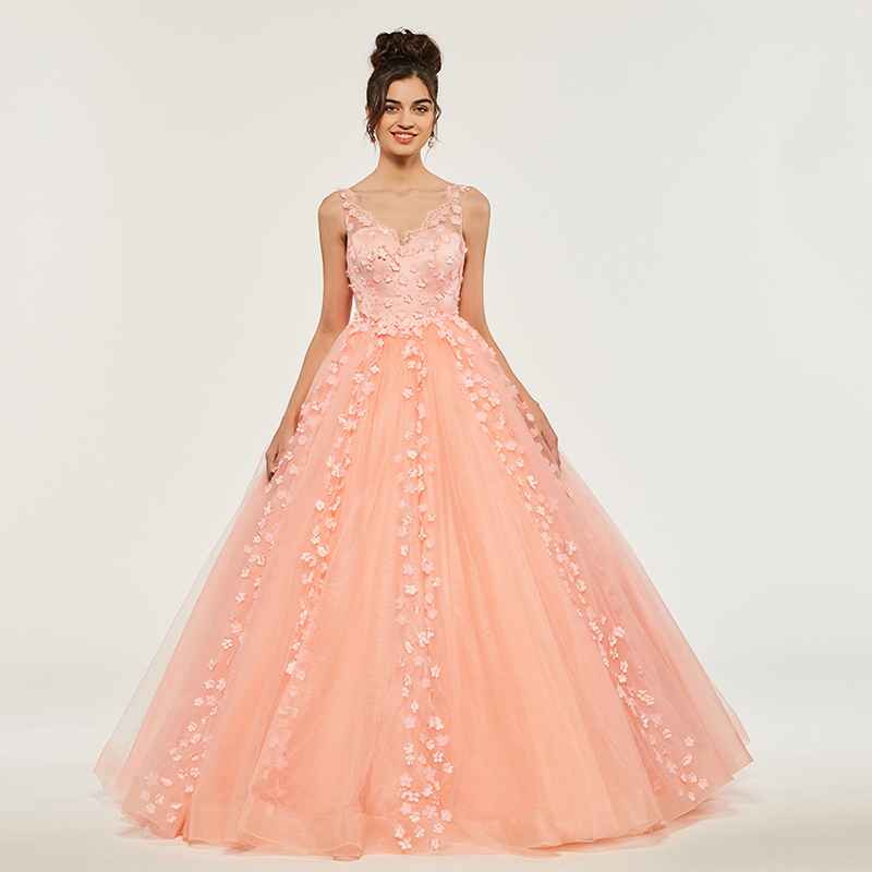 Empire Ball Gown Wedding Dresses: Aliexpress.com : Buy Tanpell Empire Ball Gown Quinceanera