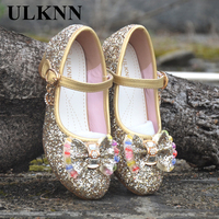 Mudibear Girls Sandals Kids Crystal Shoes Dream High Heels Students Dance Party Shoes Children Leather Fashion