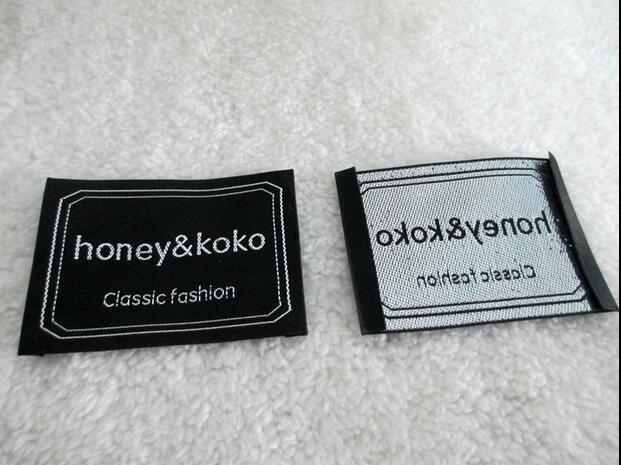 Livraison gratuite accessoires de vêtement étiquettes de vêtements personnalisés, étiquette tissée logo personnalisé, étiquettes étiquettes, étiquettes de nom propre pour vêtements
