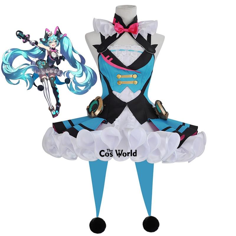 2019 Vocaloid Hatsune Miku Magical Mirai Circus Dress Uniform Outfit Anime Customize Cosplay Costumes