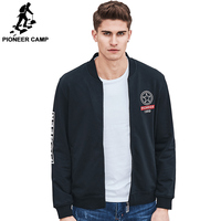 Pioneer Camp 2017 Spring New Zipper Hoodies Jacket Men Brand Clothing Fashion Sweatshirt Coat Male Top