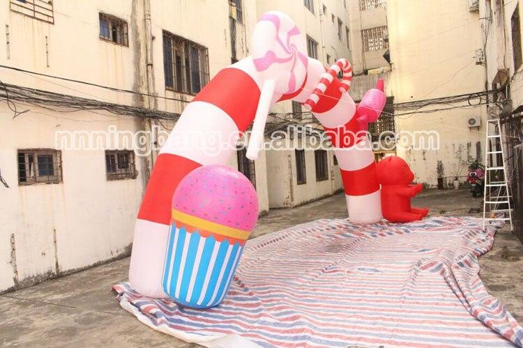 Бесплатная доставка Лидер продаж 4 м, 8 м ширина дешевые красочные конфеты надувные арки для наружной рекламы (модель # nb5 ar08e)