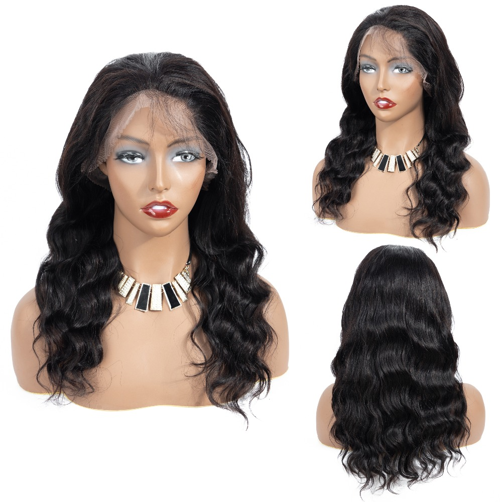 360 Lace Frontal Wig Pre Plucked with Baby Hair 10 20 Natural Wave Natural Color Brazilian