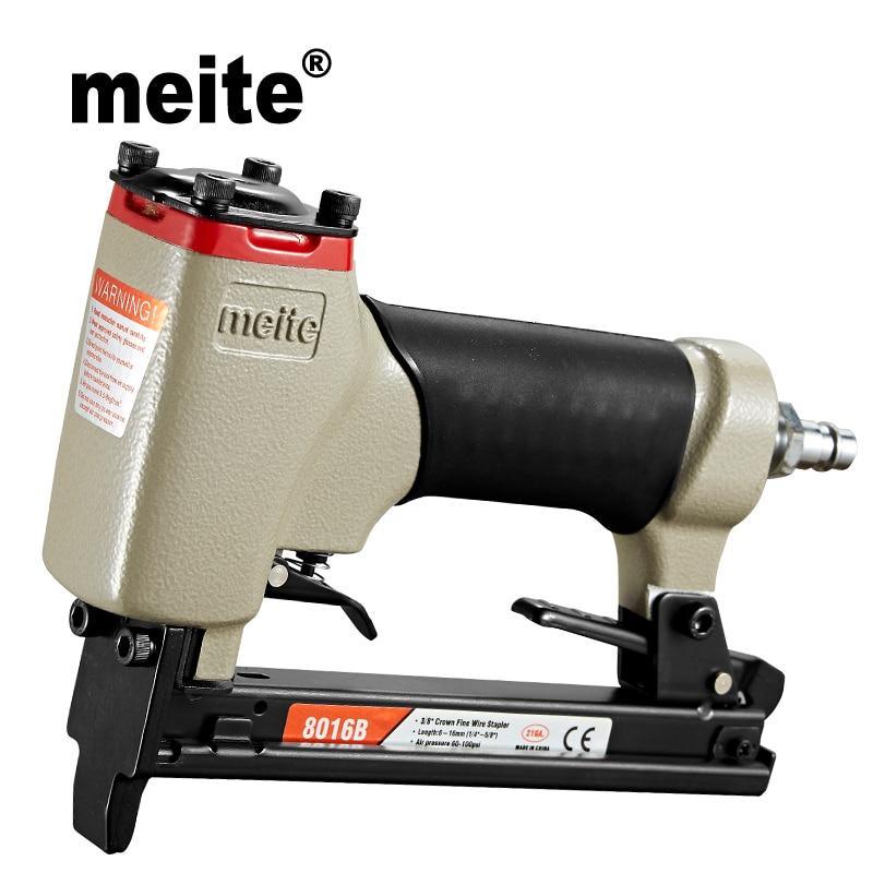 Meite 8016B grampeador grampeador Pneumático nailer gun u-tipo de Alta Qualidade ferramentas de ar para fazer sofá/móveis Jun.14 ferramenta de atualização