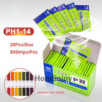 20 Pack/LOT 80 Strips/Pack PH Test Indicator Strips Aquarium Pond Water Testing PH Litmus Paper Full Range 1 14 Alkaline Acid