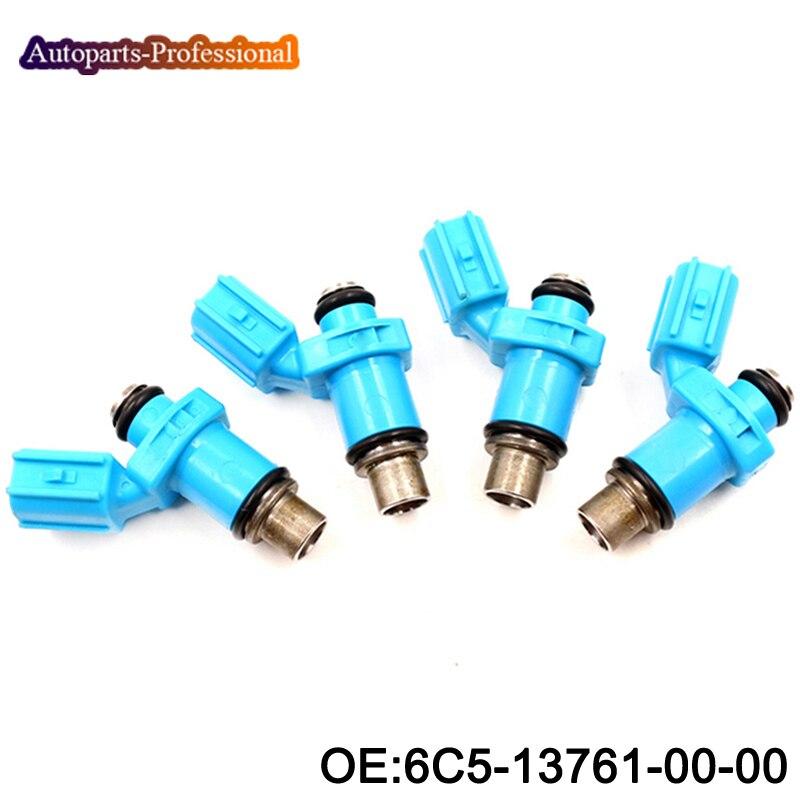 4 pcs lot 6C5 13761 00 00 New Fuel Injectors For Yamaha 40 50 60 HP