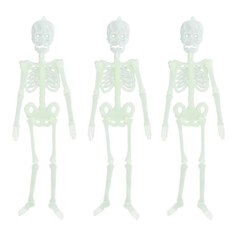 Halloween Luminous Skeleton Props Spooky Skull Skeleton