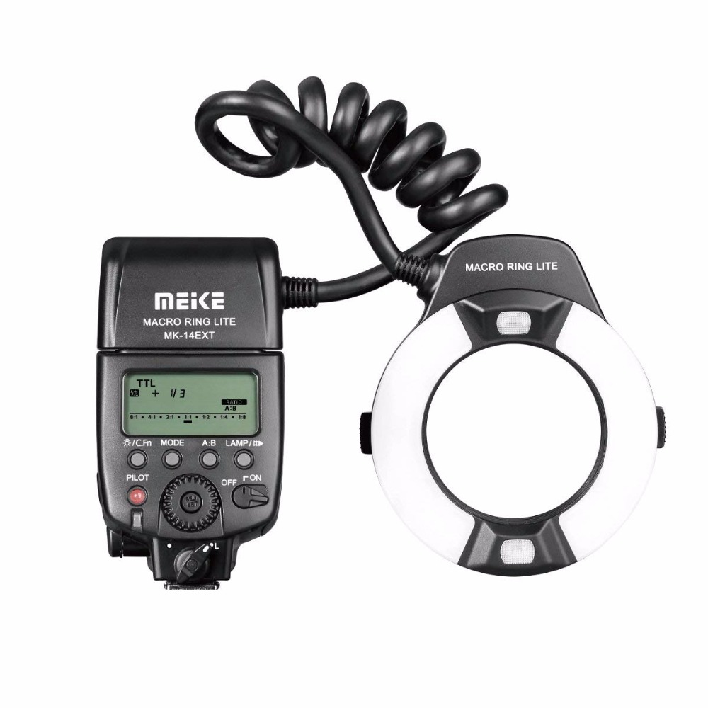 MEIKE MK-14EXT-N Ring Flash Light Speedlite GN14 For Nikon D80 D300S D600 D700 D800 D800E D3000 D3100 D3400 D5000 D5100 D7000