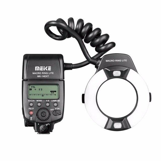 MEIKE MK 14EXT N Ring Flash Light Speedlite GN14 For Nikon D80 D300S D600  D700 D800 D800E D3000 D3100 D3400 D5000 D5100 D7000-in Flashes from  Consumer