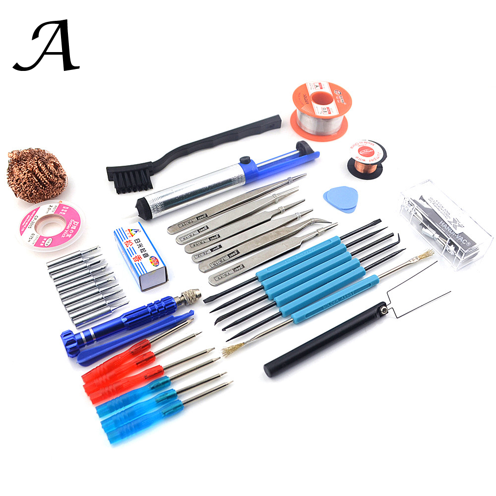 Welding Auxiliary Solder Wire/tip/braid Solder/tweezers/screwdriver For 936 8586 858D 8588D Soldering Iron Or Soldering Station