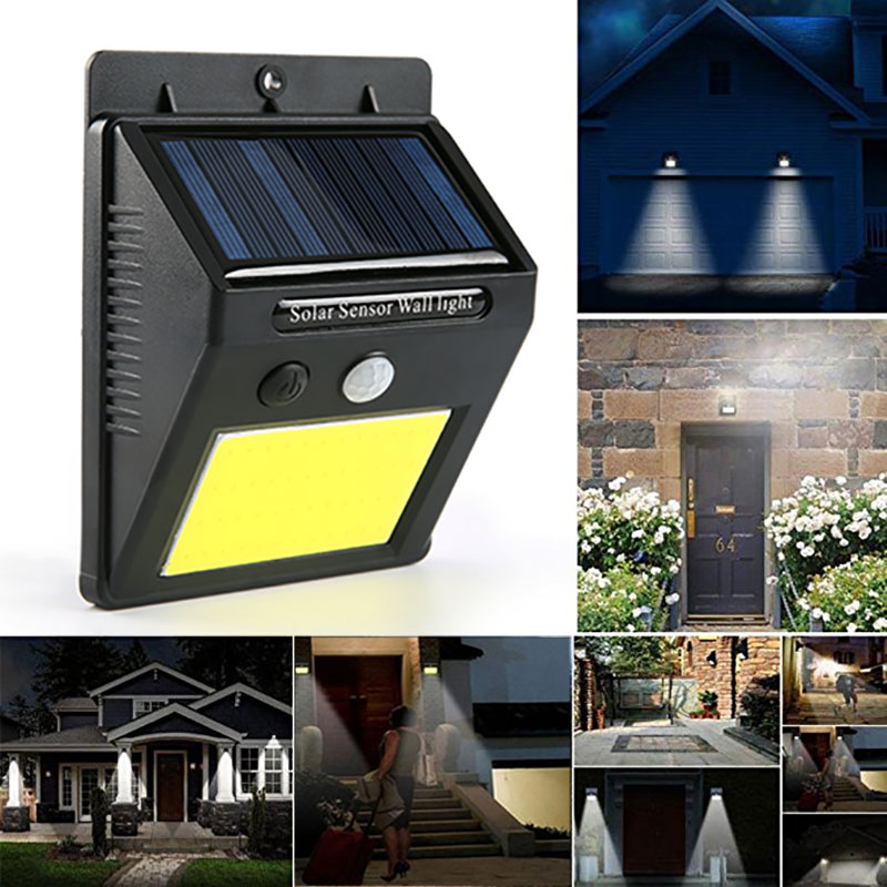 LED Solar Light PIR Motion Sensor Night Security Wall Bulb Outdoor Fence Garden Lamp Decoration Waterproof Rechargeable Sunlight цены