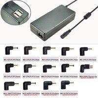 Dupla Porta USB Auto 90 W Promocional Adaptador Universal 90 w 15 v 16 v 18.5 v 19 v 19.5 v 20 v com 14 conector DC