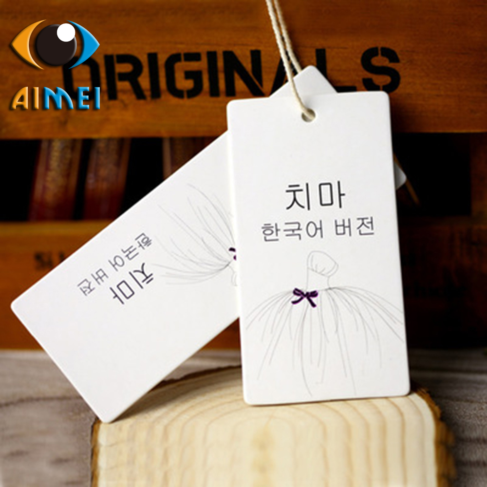 New direct sales Korean wind high-end female tag spot certificate trademark custom clothing apparel textile tag design